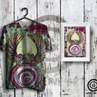 Kaos Desain Full Printing / T-shirt Full Body Lukisan Gama and Garuda