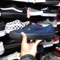 Sepatu Vans Authentic Biru Navy Sol Hitam/Black Murah