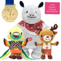 Boneka Maskot ORIGINAL LICENSED Asian Games 2018(Medal+Mini Booklet)