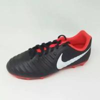 New Sepatu bola Nike junior tiempo legend club 7 FG black white red kc