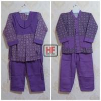 Seragam Muslim Tk Paud/ Baju Muslim Tk Paud Motif Batik Ungu