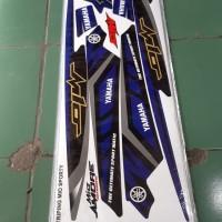 Striping lis sticker variasi mio sporty amore grafis biru