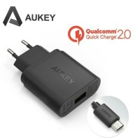 Aukey Charger USB 1 Port EU Plug 18W with QC 2.0 & AIPower - PA-U28 -