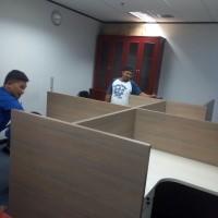 Meja kerja cubicle ,meja sekat, meja partisi, meja kantor, meja hpl