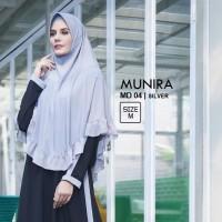 Jilbab Instan Bergo syari Munira MD 4 Pet Busa Jersey Rempel Original