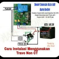 Kit Charger Accu Modul Cas Aki 24V Otomatis ON & OFF