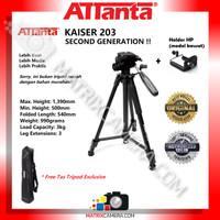 Tripod ATTanta Kaiser 203 for Camera/HP + HP Holder + Tas Tripod