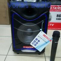 Speaker Portable Amplifier Wireless Asatron HT 8885 UKM 8inch Original
