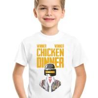 Kaos Anak   Baju PUBG Winner Winner Chicken Dinner Free Tambah Nama