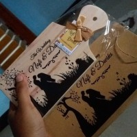 100pcs Souvenir telenan 12x24cm plus paperbag