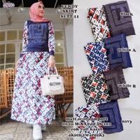 Baju setelan wanita muslim atasan dan rok Fendi skirt Set 11