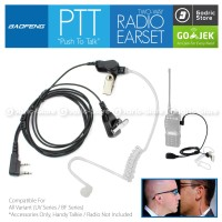Earphone Tube Headset Microphone Mic Touring HT Baofeng UV5R 888s etc