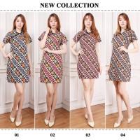Yora Dress batik pendek Cheongsam wanita jumbo Fit to XL
