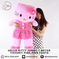 Boneka Hello Kitty Jumbo 1 Meter FAVORIT PREMIUM PINK