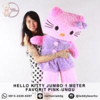 Boneka Hello Kitty Jumbo 1 Meter FAVORIT PREMIUM PINK-UNGU