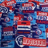 Stiker Arema mboissam model kotak / kaos / baju murah full laminasi