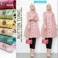 Button Tunik - Baju Atasan Wanita Muslimah - Tunik Model Terbaru