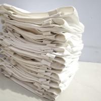 Tas TOTE BAG Kanvas POLOS ( 40 x 30 Non Ziper) Hitam/Putih