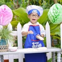 Apron Anak 1 Set Junior Chef