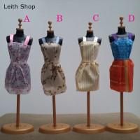 Baju Barbie 4 Setelan Dress Rok Casual Gaun Kemeja Mattel BJD Non Ori