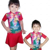Baju renang anak perempuan | cewek karakter usia 2 - 6 tahun - Frozen