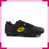 Sepatu Bola Lotto Squadra FG - Black / Jet Black / Sunshine L01010010