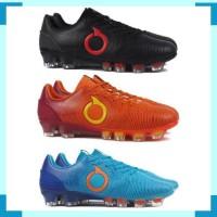 Sepatu Bola OrtusEight Catalyst Oracle FG - Black , Ortrange , Pale