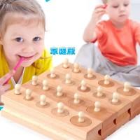 Mainan Montessori Cylinder Socket Soket Silinder