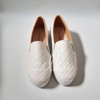 sepatu kets wanita slip on zelka casual santai flat shoes putih