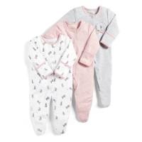 Mamas & Papas SleepSuit Rabbit - Jumper Bayi PAnjang - jumper newborn