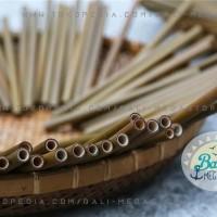 BALI Sedotan Minum BAMBU Bamboo Straw Kertas Stainless Eco Hotel Cafe