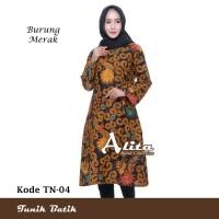 Tunik Batik Wanita Dress Batik Baju Atasan Batik Wanita 04
