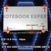 Layar Laptop, LCD, LED Asus X401U, X450C, X453M, A46C, A46S, A450C