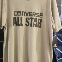 Baju Kaos Tshirt Converse Original Logo All Star Converse Merah Cream