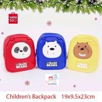 Miniso We Bare Bears Children's Backpack - Tas Anak - Bag
