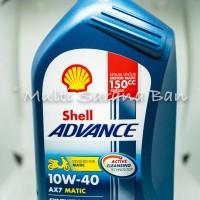 Oli Motor Matik Terbaru Shell Advance AX7 1 Liter Matic