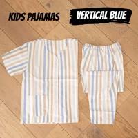 KIDS VERTICAL BLUE piyama anak katun catra garis murah adem