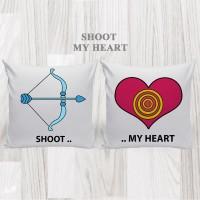 Bantal Hias Dekorasi Valentine - Shoot My Heart
