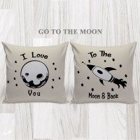 Bantal Hias Dekorasi Valentine - Go To The Moon