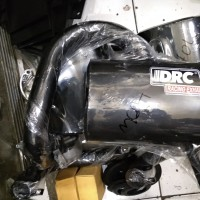 knalpot vespa racing merk DRC