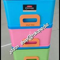 BOOM SALE Lemari laci plastik/Container Lion Star Infini Susun 4