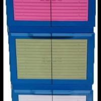 HEMAT PROMO! LEMARI PLASTIK / RAK PLASTIK 6 PINTU / 3 SUSUN CLUB MINI