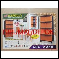 BERMUTU Lemari Plastik 4 Susun 8 Pintu NAPOLLY CRS XU48 Motif Rotan