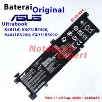 Baterai Ori Asus K401LB K401LB5500 K401LB5200 Ultrabook B31N1424