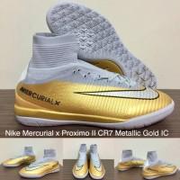 SEPATU FUTSAL NIKE MERCURIAL X PROXIMO II CR7 METALLIC GOLD IC