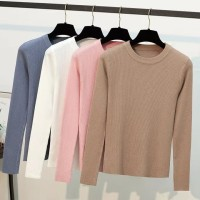 Baju Blouse Rajut Sweater Tangan Panjang Import Perempuan