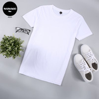 Namako Tee / Warna Putih / Kaos Polos / Tshirt / Baju Murah / Oblong