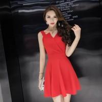 Dress baju merah hitam party pesta kondangan clubbing imlek sincia