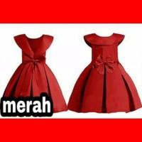 baju anak 3-5thn dress gaun pesta congsam sincia party maxi rok merah