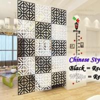 VINTAGE 3D CHINESE STYLE TIRAI GANTUNG / PARTISI PENYEKAT RUANGAN